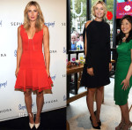 Maria Sharapova In J Mendel - SuperGoop! Personal Event & SELF Made Woman Q&A