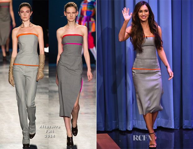 Megan Fox In Altuzarra - The Tonight Show Starring Jimmy Fallon