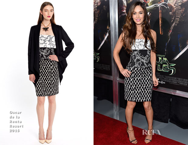 Megan Fox In Oscar de la Renta - 'Teenage Mutant Ninja Turtles' New York Premiere