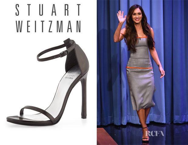 Megan Fox's Stuart Weitzman 'Nudist' Ankle-Strap Sandals