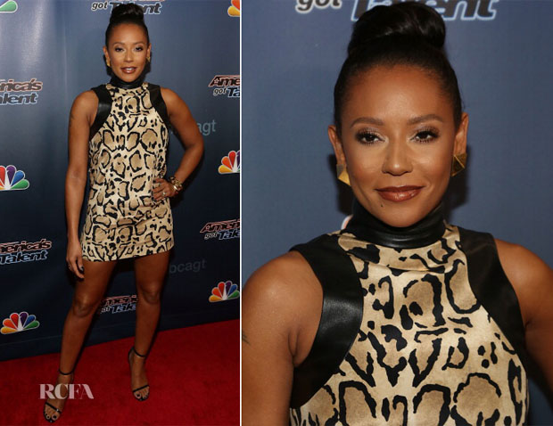 Mel B In Gucci - 'America's Got Talent' Post Show Red Carpet