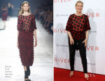 Meryl Streep In Dries Van Noten - 'The Giver' New York Premiere