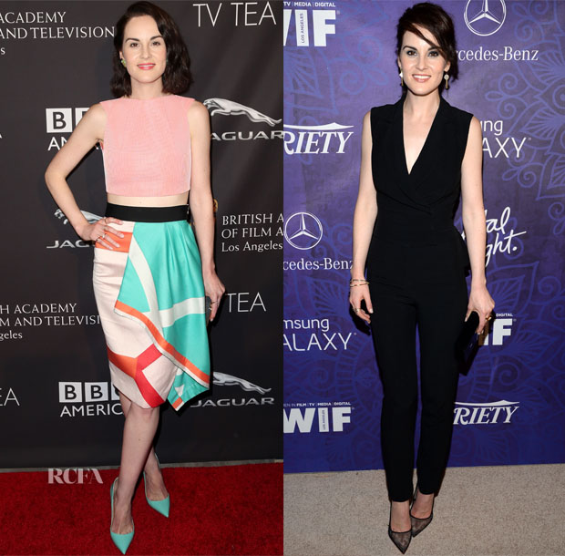 Michelle Dockery In Roland Mouret & Elie Saab - BAFTA Los Angeles TV Tea Party & Variety And Women In Film Emmy Nominee Celebration