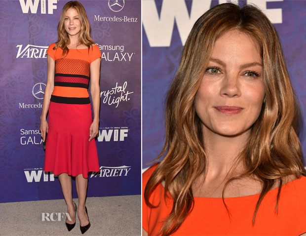 Michelle Monaghan In J Mendel - Variety And Women In Film Emmy Nominee Celebration