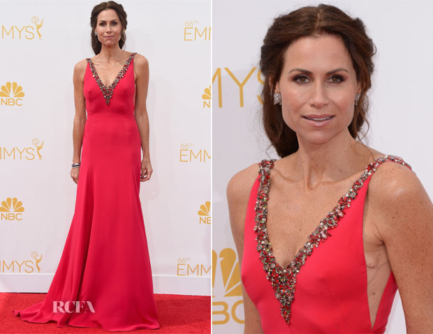 Minnie Driver In Marchesa - 2014 Emmy Awards