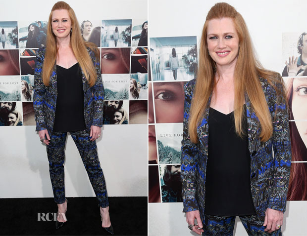 Mireille Enos In Etro - 'If I Stay' LA Premiere