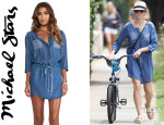 Naomi Watts' Michael Stars Button Down Shirt Dress