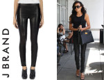 Naya Rivera's J Brand Leather Leggings