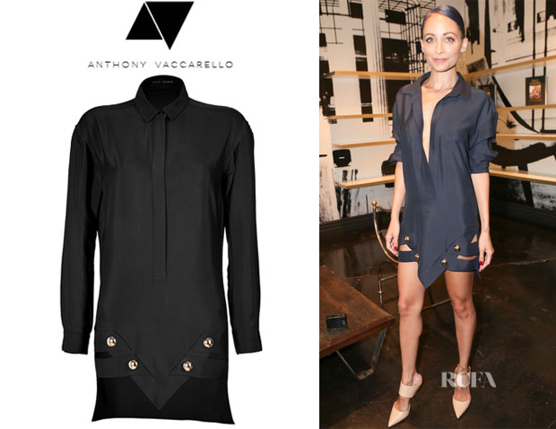 Nicole Richie's Anthony Vaccarello Shirtdress