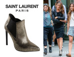 Nikki Reed's Saint Laurent 'Stamped Paris' Pointed Boots