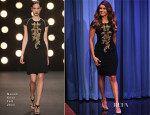 Nina Dobrev In Naeem Khan - The Tonight Show Starring Jimmy Fallon