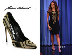 Nina Dobrev's Brian Atwood 'Alis' Studded Suede Pumps