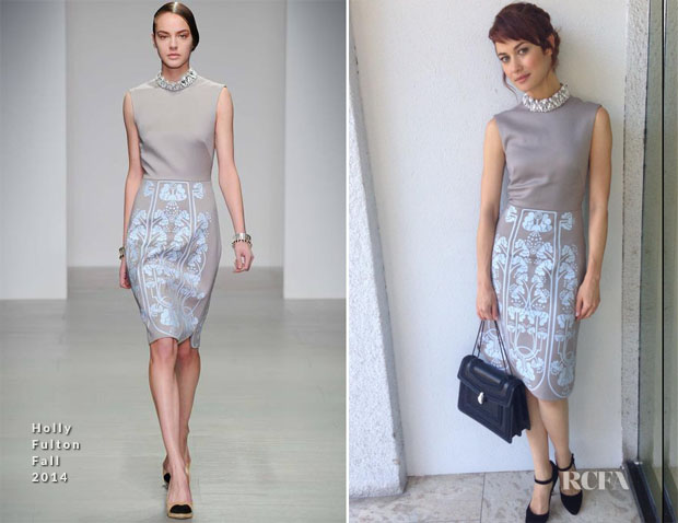 Olga Kurylenko In Holly Fulton - 'The November Man' Press Conference