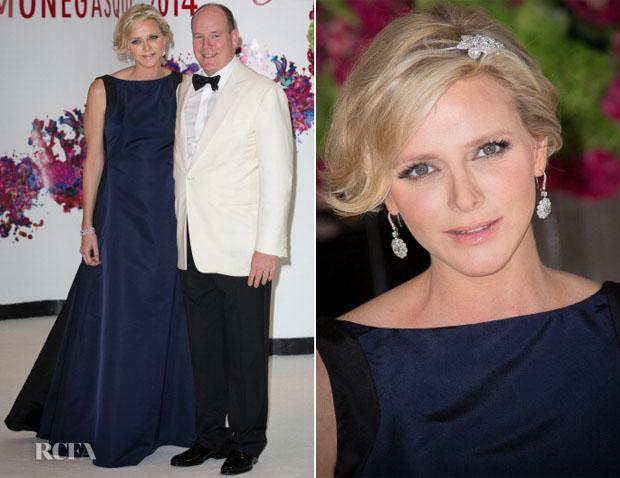Princess Charlene of Monaco In Dior - 66th Monaco Red Cross Ball Gala