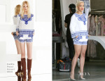Rita Ora In Emilio Pucci - Planet Blue Beverly Hills