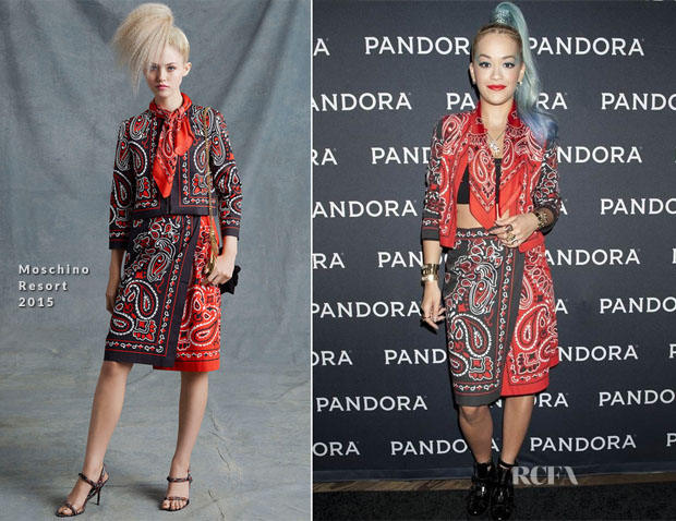 Rita Ora In Moschino - Pandora Presents on the Santa Monica Pier