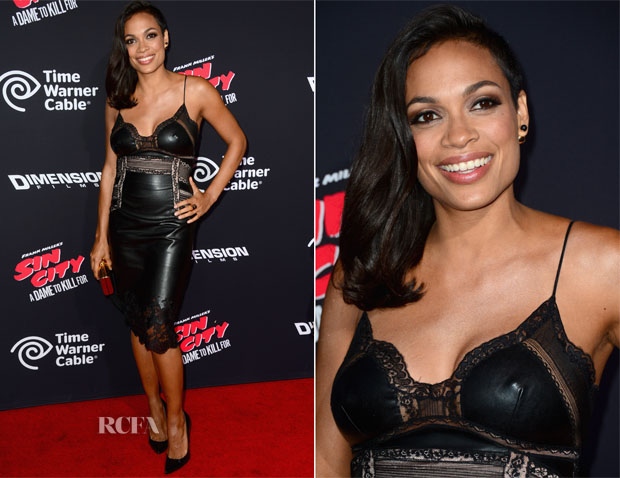 Rosario Dawson In Ermanno Scervino - 'Sin City: A Dame To Kill For' LA Premiere