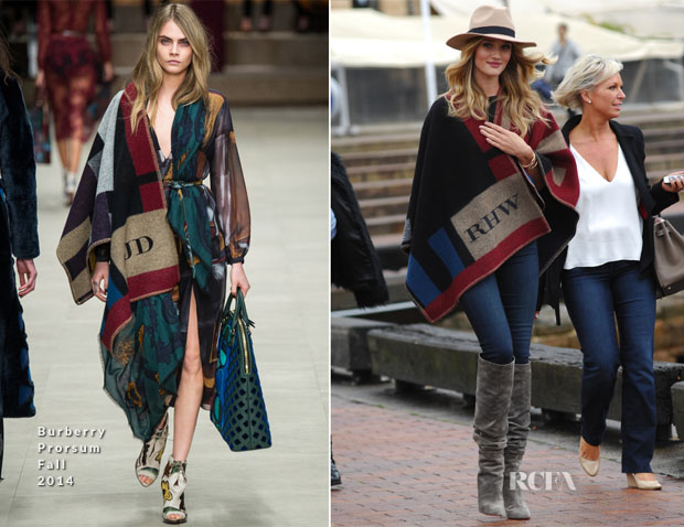 Rosie Huntington-Whiteley In Burberry Prorsum - Out In Sydney