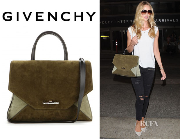 Rosie Huntington-Whiteley's Givenchy 'Obsedia' Suede Tote