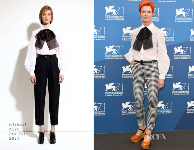 Sandy Powell In Michael Kors - 2014 Venice Film Festival Jurors Photocall