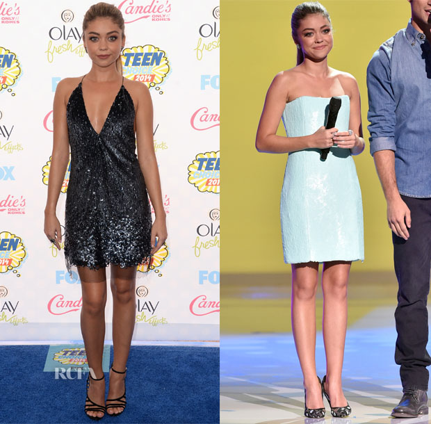 Sarah Hyland In Marc Jacobs, Emilio Pucci - 2014 Teen Choice Awards copy