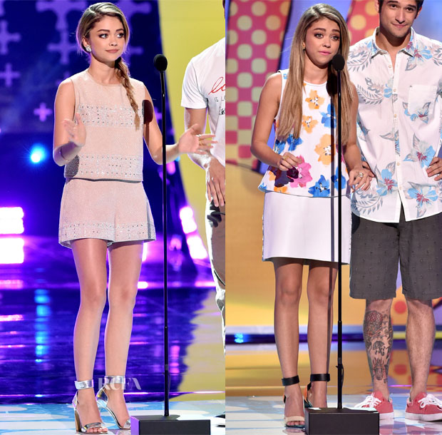 Sarah Hyland In  Tanya Taylor & Bec & Bridge - 2014 Teen Choice Awards