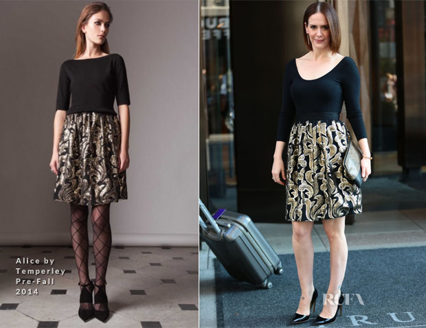 Sarah Paulson In Alice by Temperley - Late Night with Seth Meyers