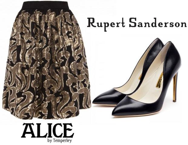 Sarah Paulson In Alice by Temperley & Rupert Sanderson