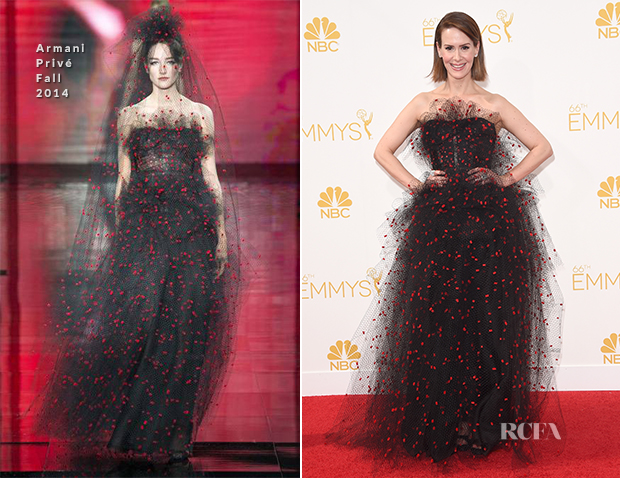 Sarah Paulson In Armani Privé - 2014 Emmy Awards