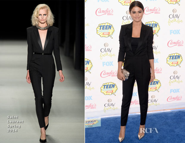 Selena Gomez In Saint Laurent - 2014 Teen Choice Awards