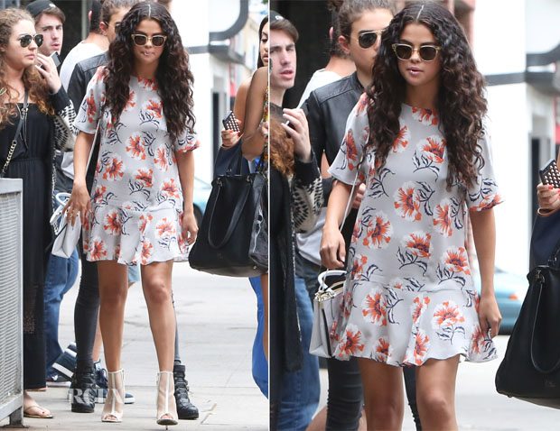 Selena Gomez In Topshop Boutique - Electric Bar & Grill
