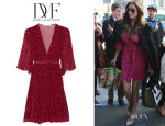 Shay Mitchell's Diane Von Furstenberg Printed Silk-Georgette Wrap Dress