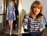 Taylor Swift In H&M - 'The Giver' New York Press Conference