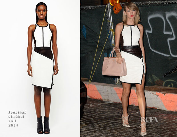 Taylor Swift In Jonathan Simkhai - Out In Soho