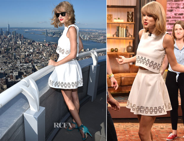 Taylor Swift In Monica Rose for Lovers + Friends - Yahoo Live Stream