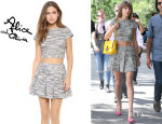Taylor Swift's Alice + Olivia 'Elenore' Crop Top And Alice + Olivia 'Davis' Bouclé Skirt