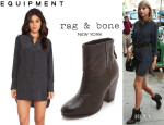 Taylor Swift's Equipment 'Ian Archive' Prism Tunic And Rag & Bone 'Classic Newbury' Booties
