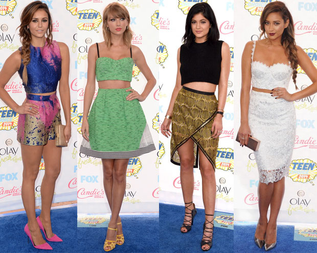 Teen Choice Award Red Carpet Trend - Crop Tops
