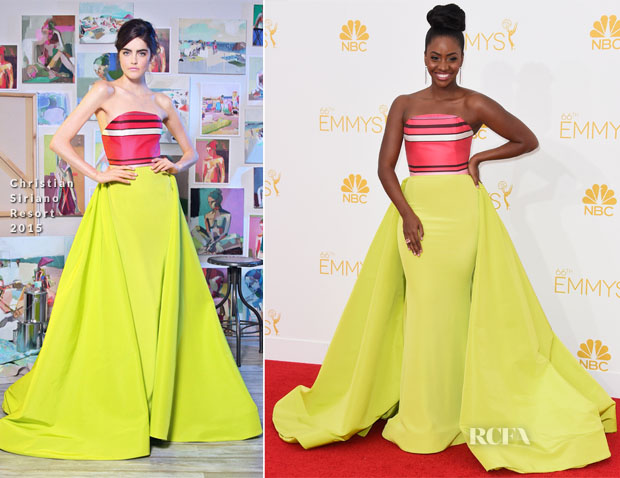 Teyonah Parris In Christian Siriano - 2014 Emmy Awards