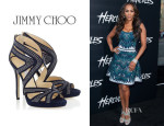 Vivica A. Fox's Jimmy Choo 'Collar' Studded Sandals