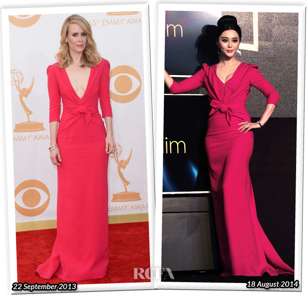 Who Wore Carolina Herrera Better...Sarah Paulson or Fan Bingbing?