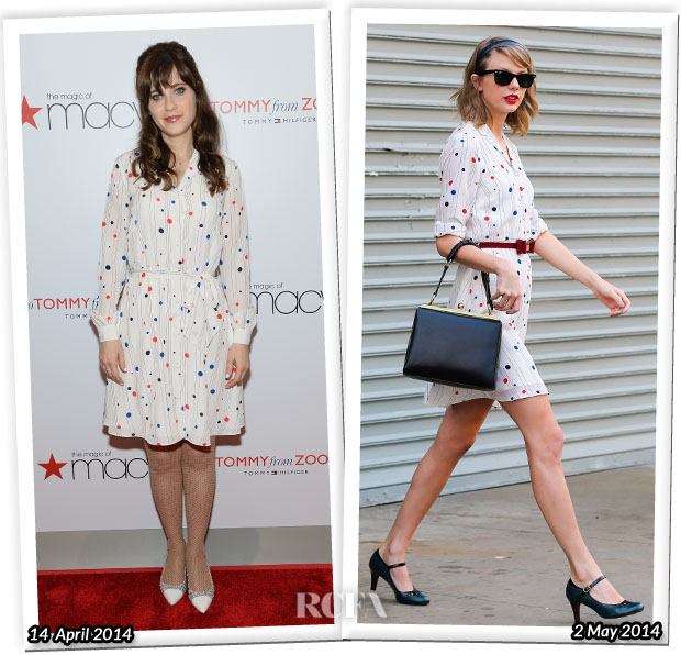 Who Wore Zooey Deschanel for Tommy Hilfiger Better Zooey Deschanel or Taylor Swift