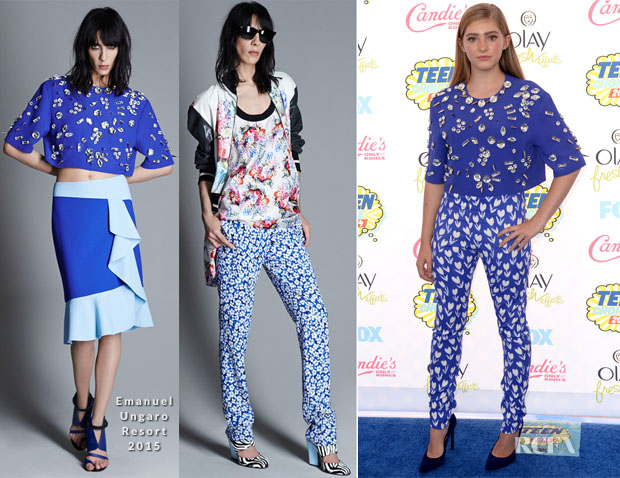 Willow Shields In Emanuel Ungaro - 2014 Teen Choice Awards