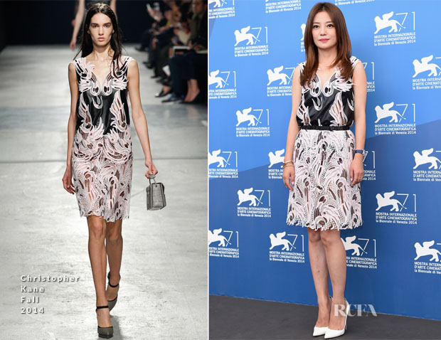 Zhao Wei In Christopher Kane - 'Dearest' Venice Film Festival Photocall
