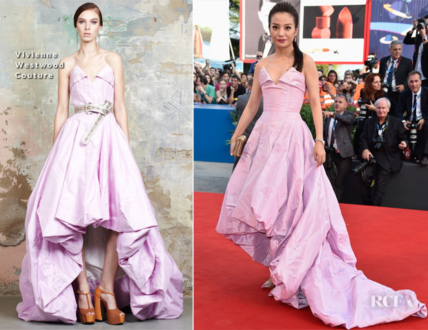 Zhao Wei In Vivienne Westwood Couture - 'Dearest' Venice Film Festival Premiere & Opening Ceremony