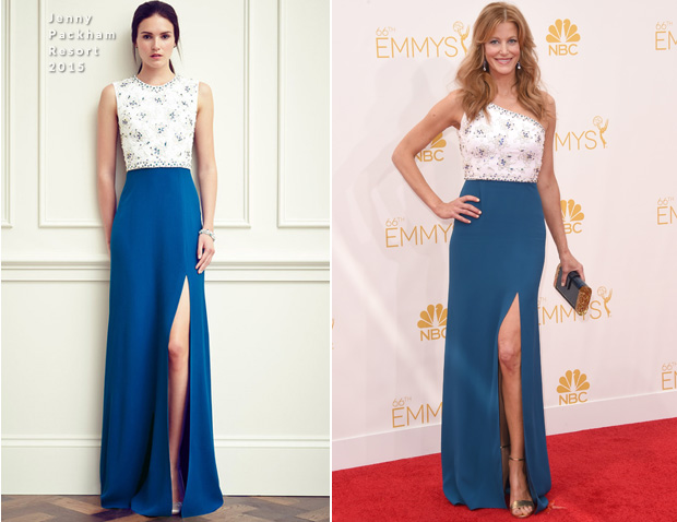 Anna Gunn In Jenny Packham – 2014 Emmy Awards