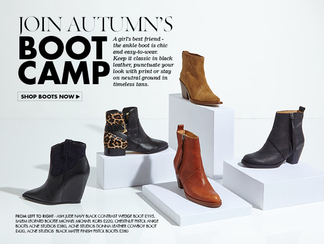 The New Season's Footwear Of Choice - The Ankle Boot Is Back