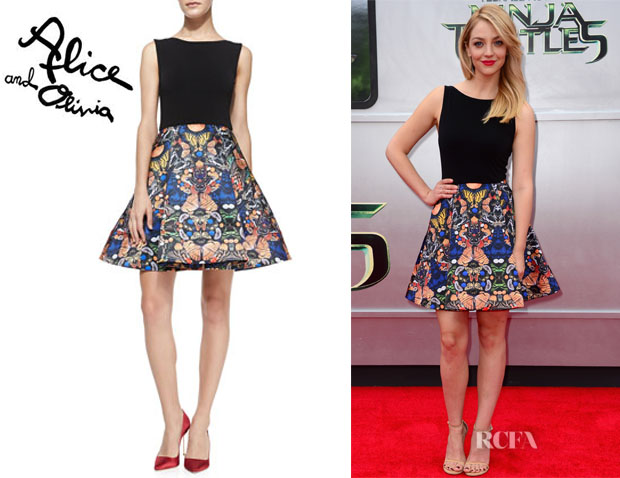 Abby Elliott's Alice + Olivia 'Amabel' Dress