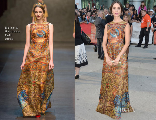 Abigail Spencer In Dolce & Gabbana - 'This Is Where I Leave You'  Toronto Film Festival Premiere