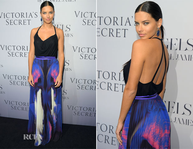 Adriana Lima In Haute Hippie & Gabriela Cadena  - Victoria's Secret Hosts Russell James' 'Angel' Book Launch